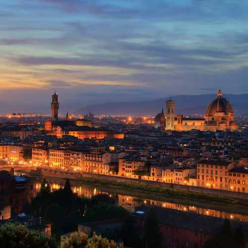 Florence: Information, images and distances from the camping