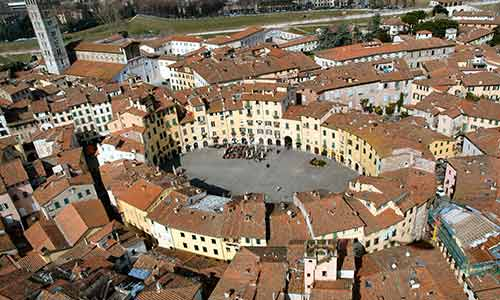Lucca: Information, images and distances from the camping